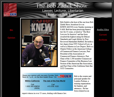 Bob Zadek: KNEW-AM Radio