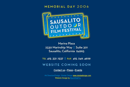 Sausalito Outdoor Film Festival