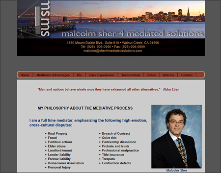 Malcolm Sher 4 Mediated Solutions